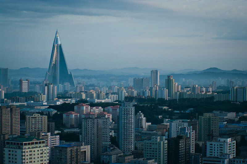 The Pyongyang skyline.