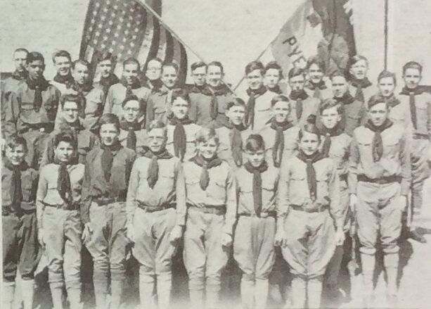 Boy Scout Troop No. 1 of Pyongyang, 1932.