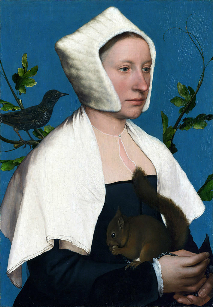 <em>Portrait of a Lady with a Squirrel and a Starling</em>, Hans Holbein