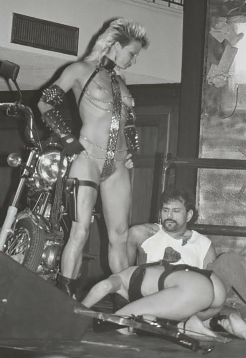 Nina Darst, Ms. San Francisco Leather Contest, 1989.
