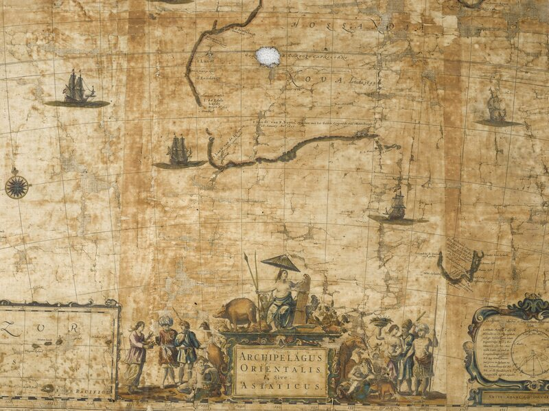 "A detail of ""Archipelagus orientalis sive Asiaticus"" by Joan Blaeu"
