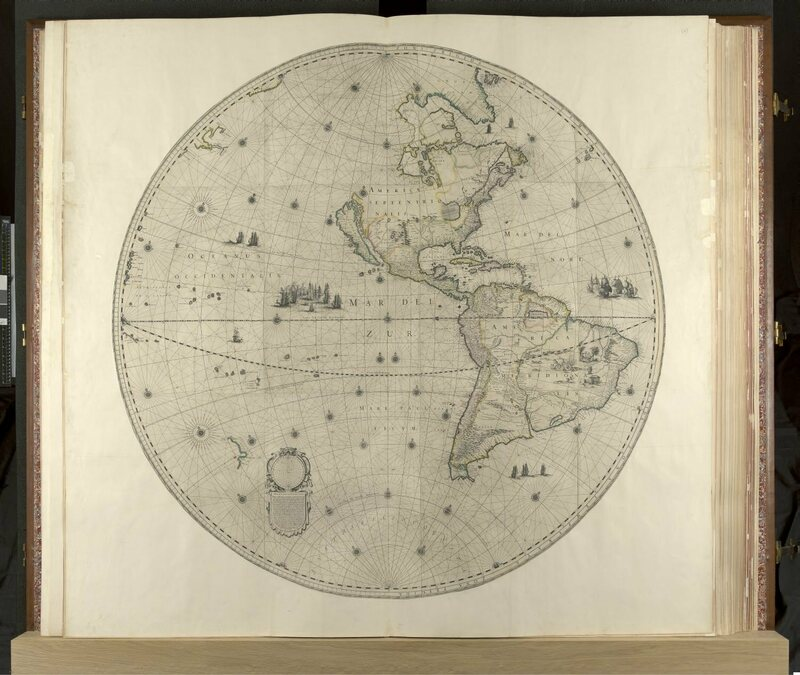 Antarctica and much of North America were still unmapped in 1660.