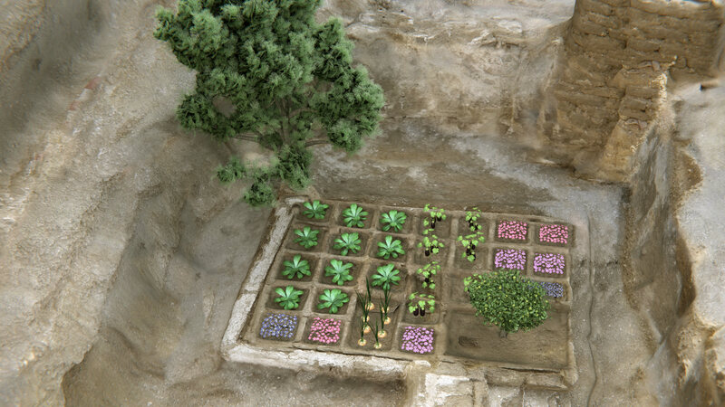 How researchers think the garden might have been planted.