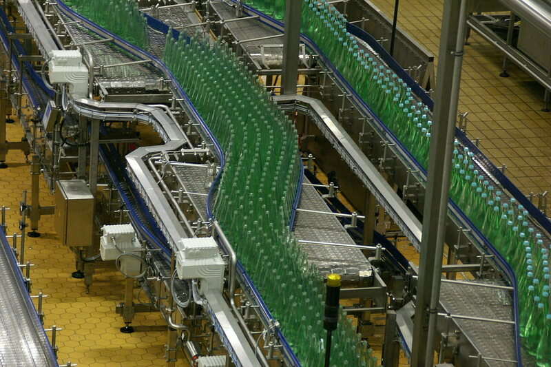 A mineral water bottling plant in Germany.