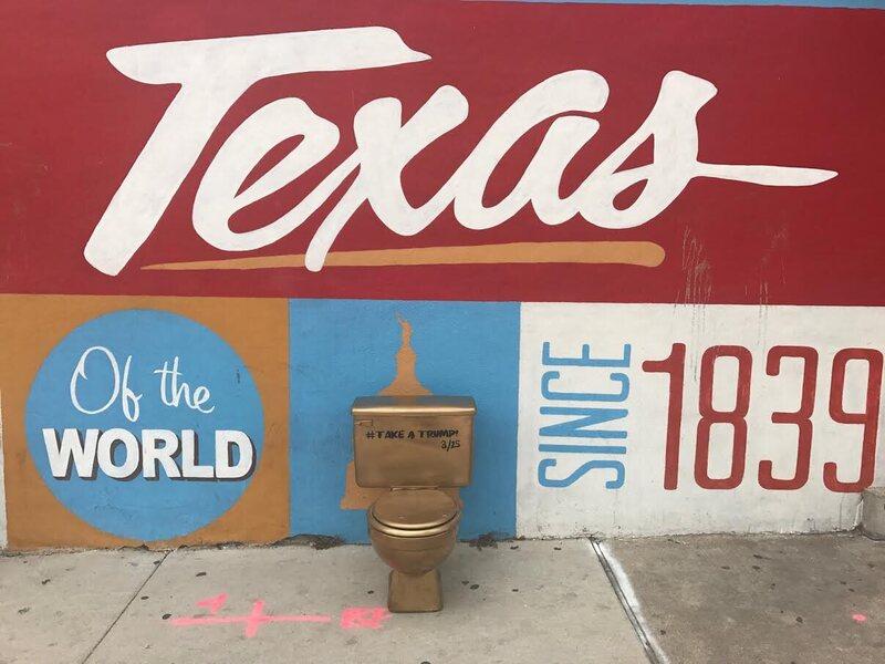 An Artfinksters toilet in Austin.