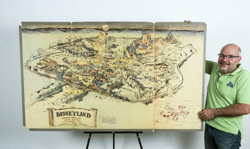 The original map of Disneyland, from 1953.