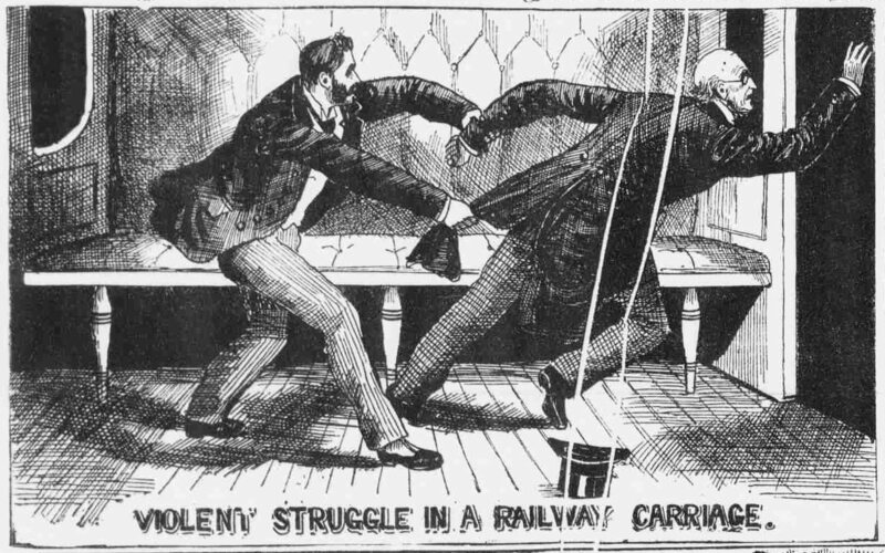 An illustration from the <em>Illustrated Police News</em>, Saturday 11 May 1889.