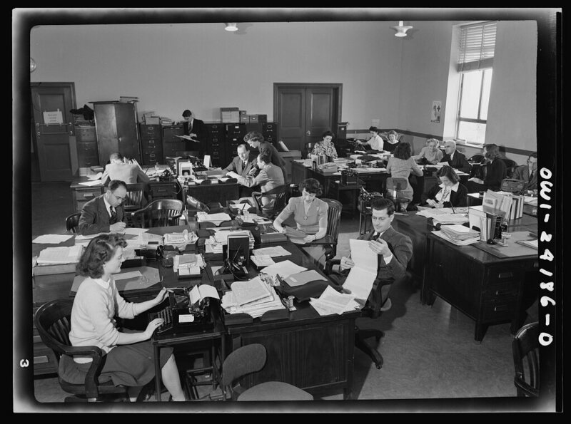 Office of War Information research workers, Washington DC, 1942.