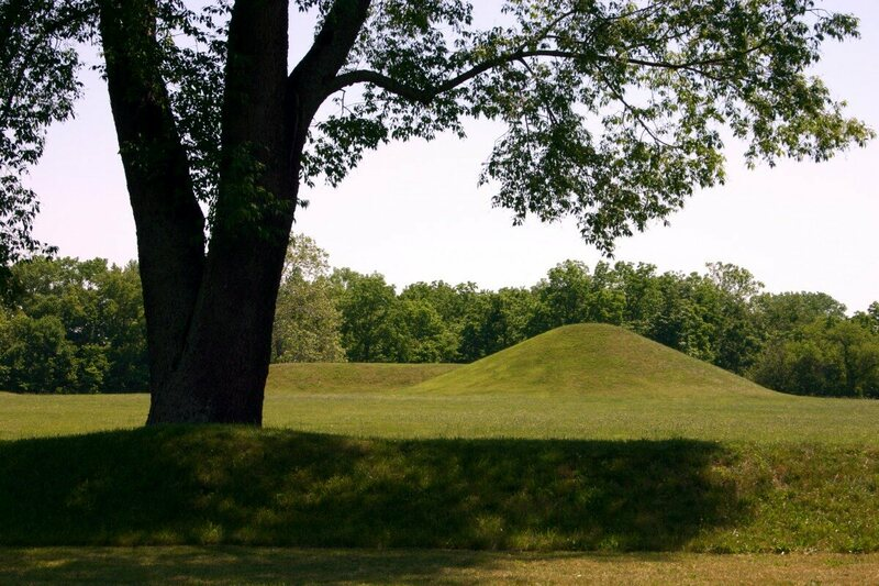 A Hopewell mound site in Chillicothe, Ohio.