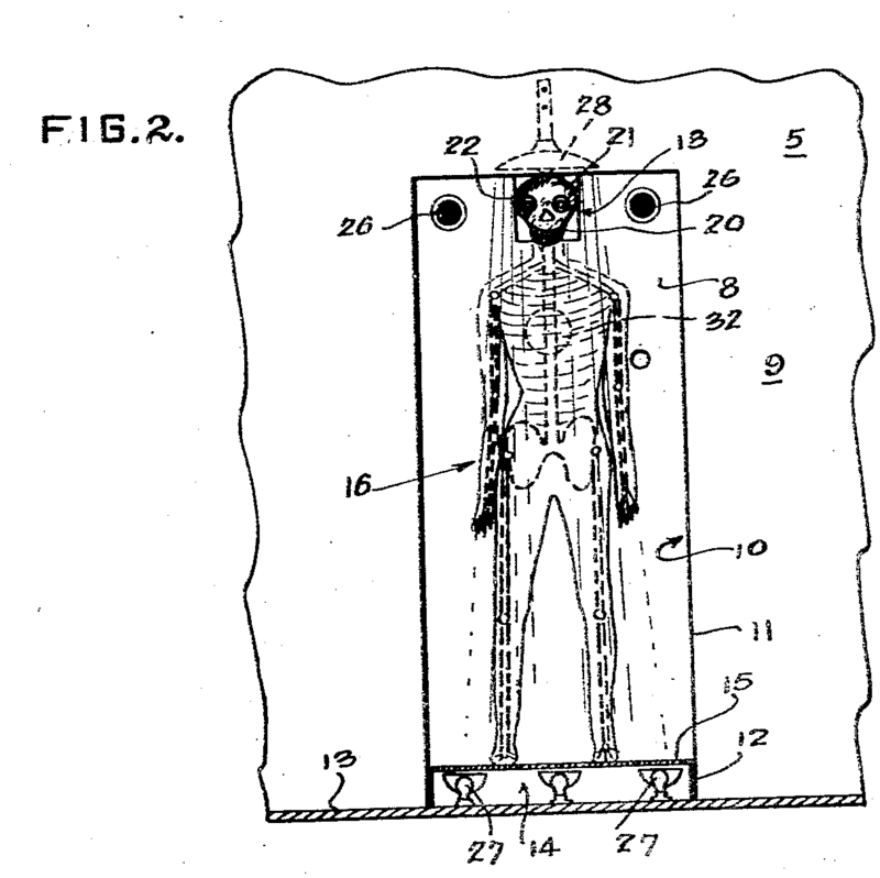 A front view of the proposed skeleton interrogator.