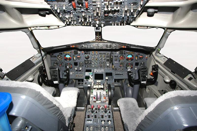 A Boeing 737-200 cockpit.
