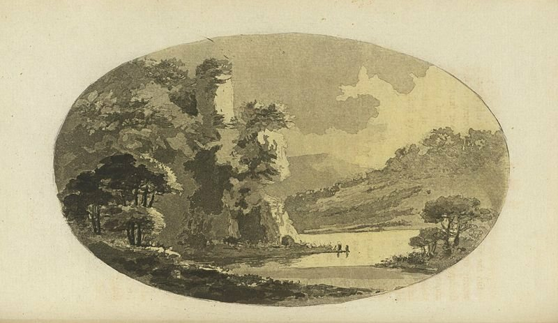 An image from William Gilpin's <em>Observations on the river Wye, and several parts of South Wales</em>, 1782.