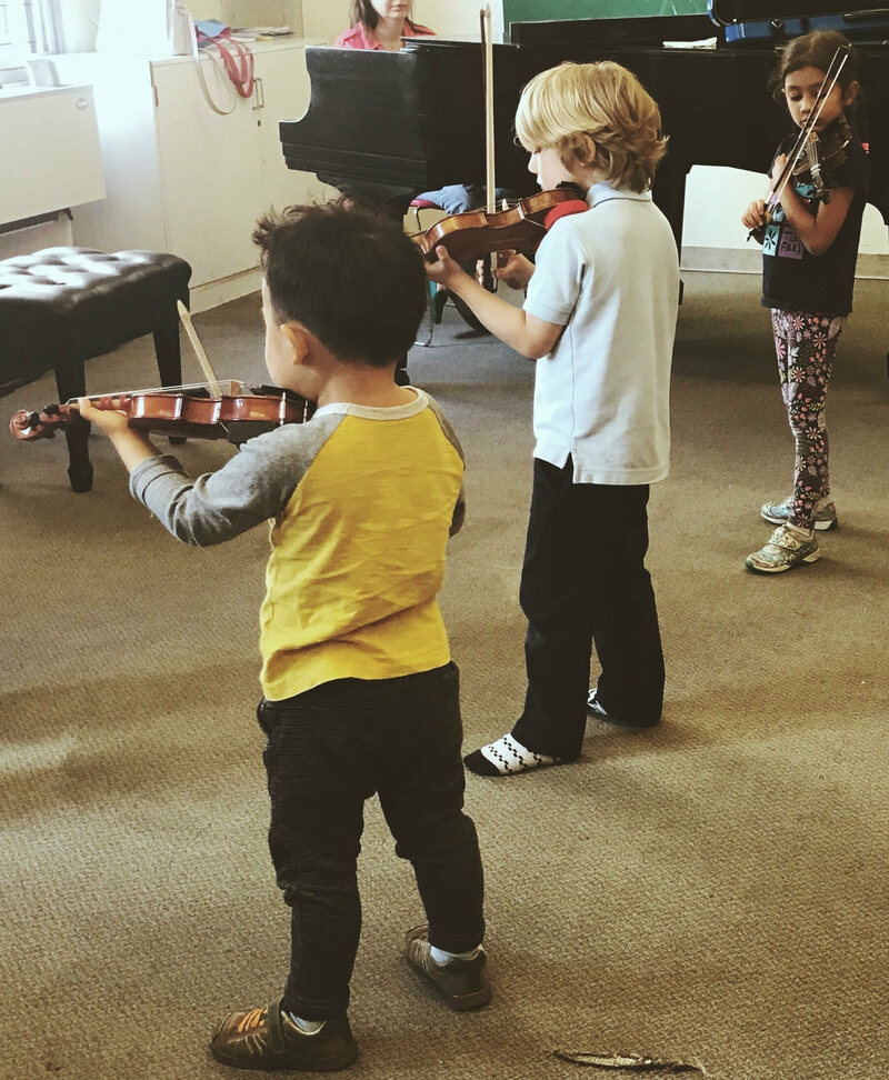 Children in Pre-Twinkle Group Class at the Lucy Moses School in New York.