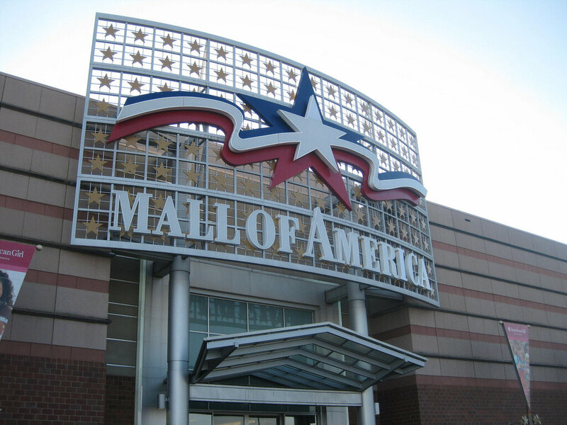 The Mall of America's entrance.