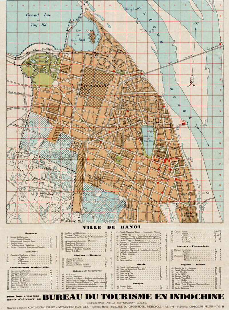 A map of Hanoi, 1925.