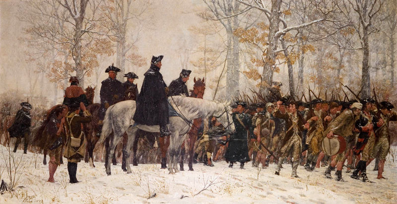 <em>The March to Valley Forge</em>, an 1883 painting by William B.T. Trego.