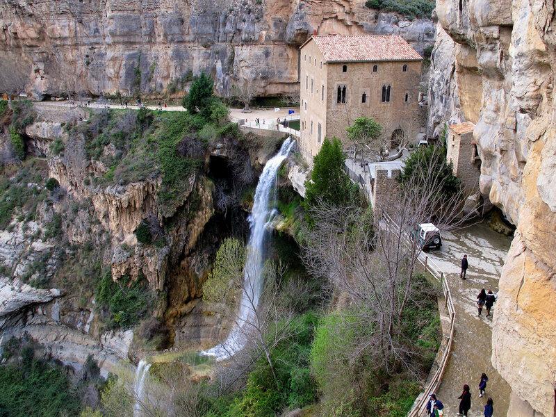 Ancient Waterfall Entrance Art Fantasy Human King