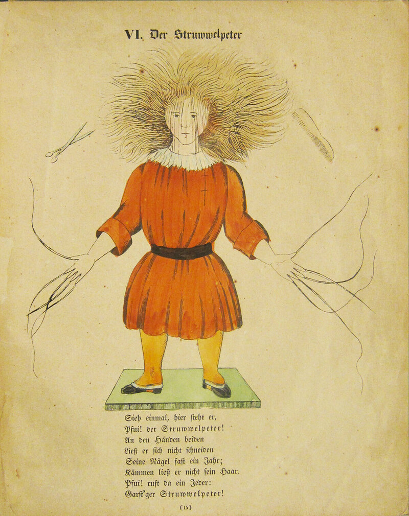 Struwwelpeter himself, in his original glory.