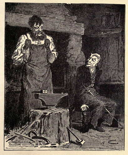"A 1916 illustration of ""The Smith Outwits the Devil,"" perhaps the oldest story from the ""Tales of Magic"" ATU category."