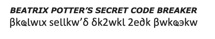 Beatrix Potter Secret Code