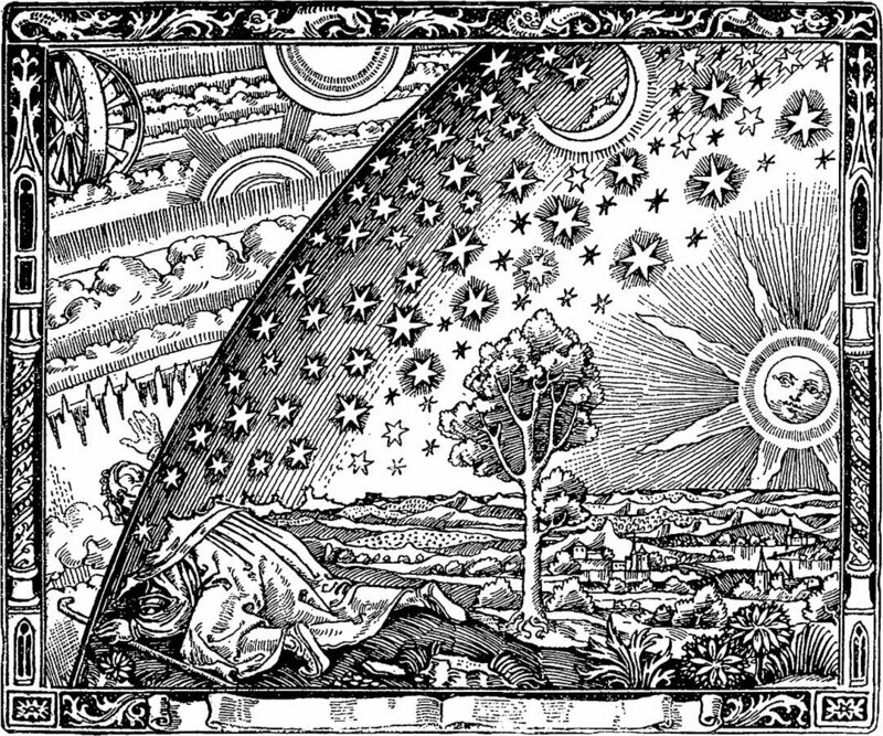 The edge of the universe, as depicted in a 19th century book.