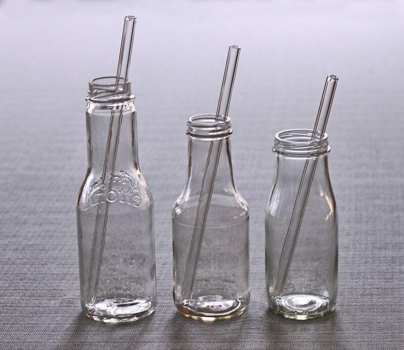 Glass straws.