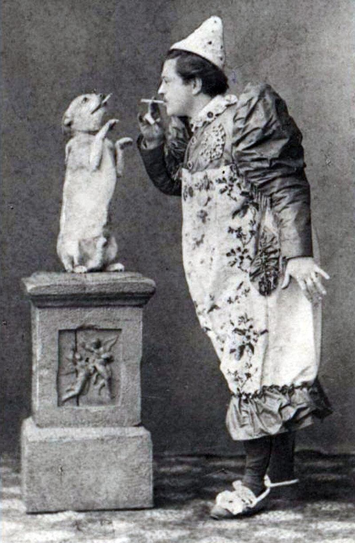 Durov with a dog trainee, circa 1910.