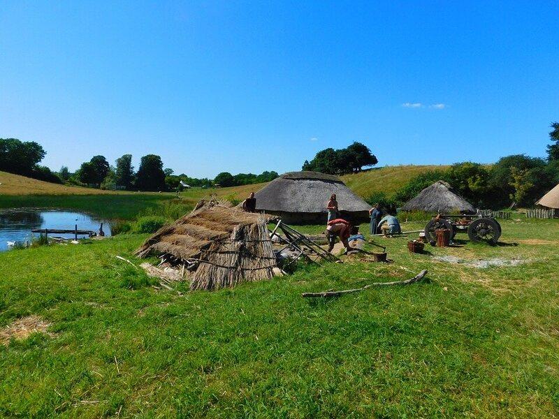 The recreation of a Viking settlement in Denmark.