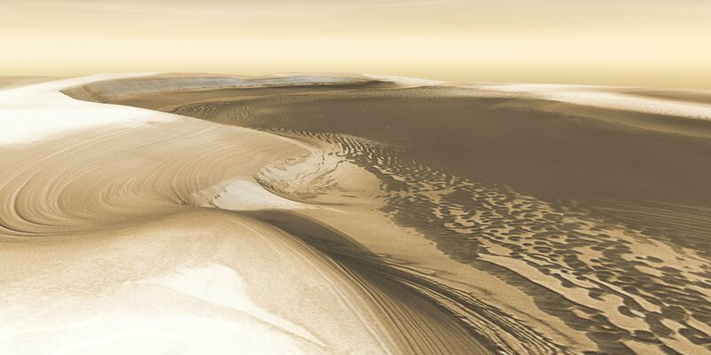Chasma Boreale, a valley in Mars' north polar ice cap.