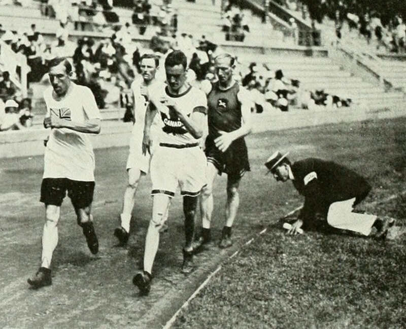 Race-walking at the 1912 Olympics, about a century after George Wilson.
