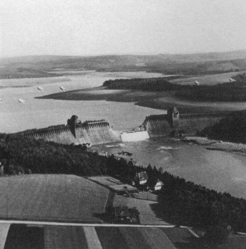 The Möhne Dam, breached.