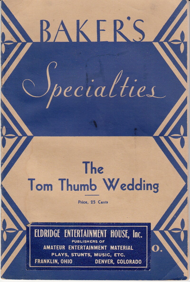 An 1898 pamphlet offering tips for DIY Tom Thumb weddings.