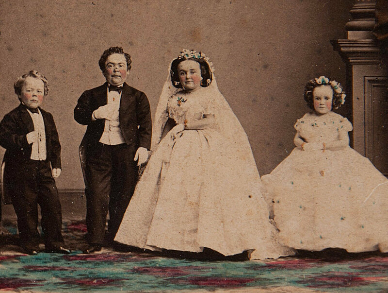 The 1863 wedding of Tom Thumb and Lavinia Warren.