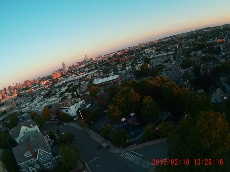 A kite's-eye-view of Somerville, Massachusetts.