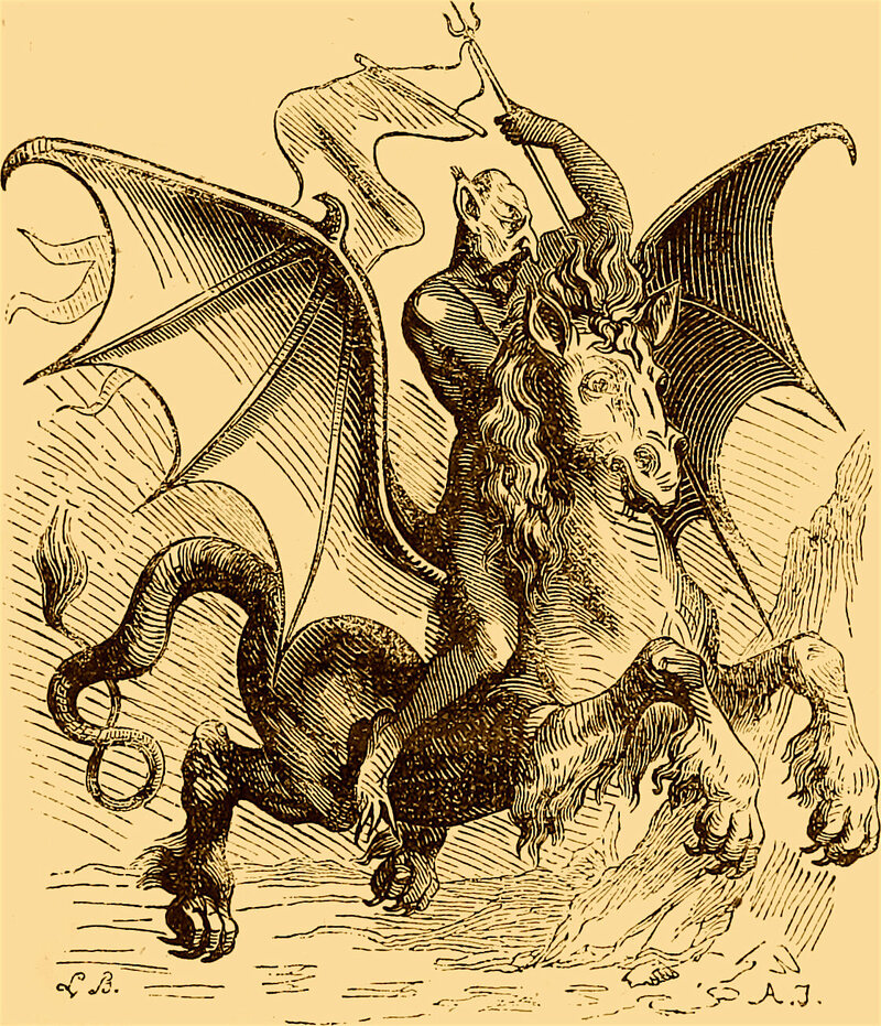 Louis Le Breton/Public Domain Abigor, a war demon.