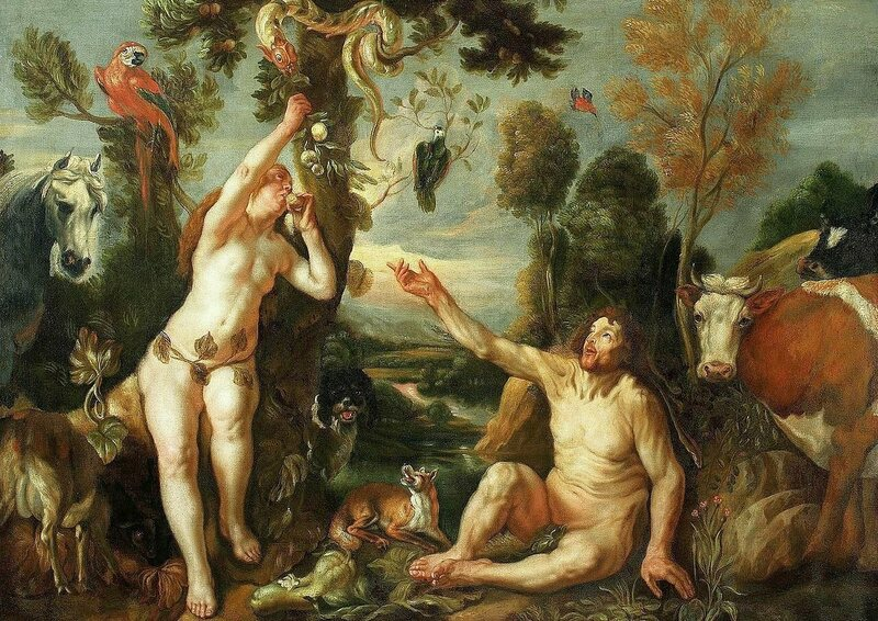 Jacob Jordaens' painting <em>Adam and Eve</em>, c. 1640.