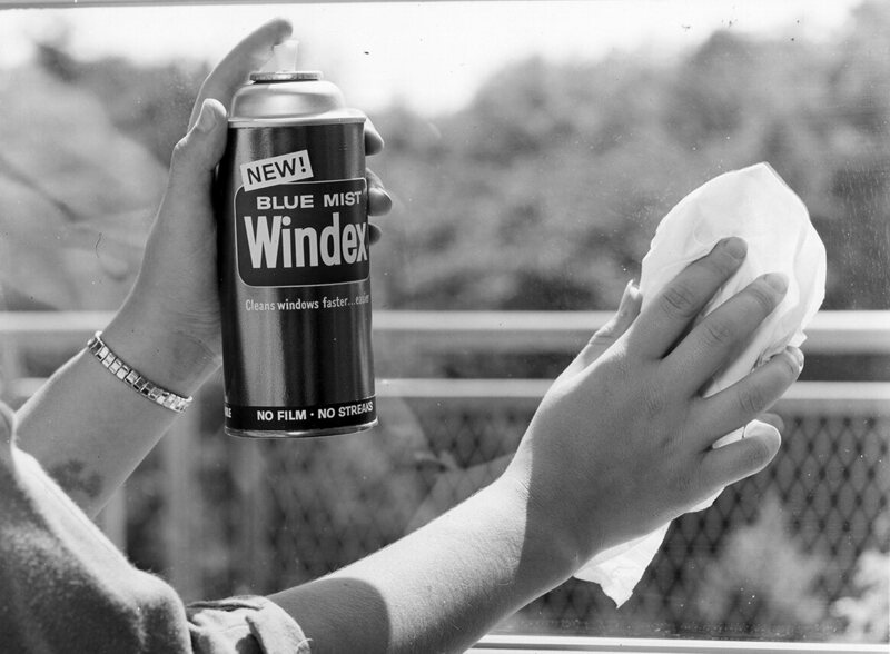 Aerosol cans of Windex were introduced in the late '50s.