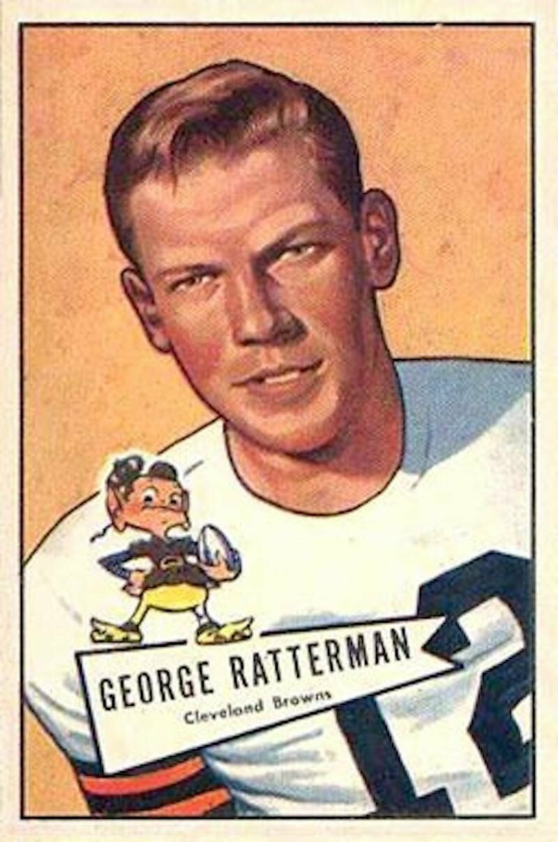 A George Ratterman football card.