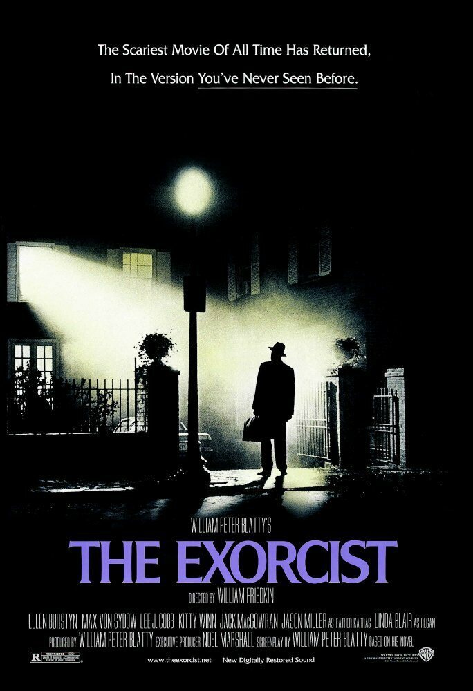 <em>The Exorcist</em> movie poster.