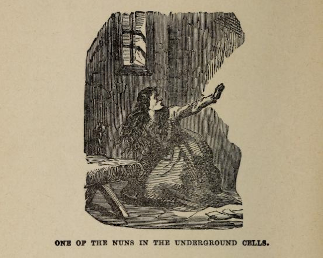An illustration from <em>The Awful Disclosures of Maria Monk</em>.