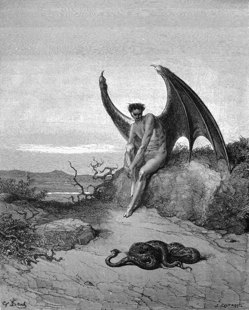 Gustave Doré's illustration of Lucifer.