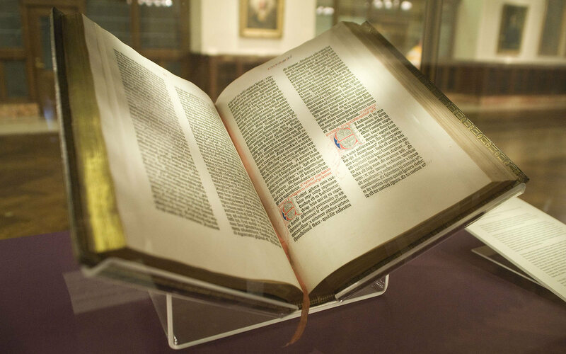 Gutenberg Bible in Lenox Library.