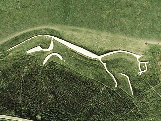 The ancient Uffington White Horse, carved over 3,000 years ago, was the first of England's many equine geoglyphs.