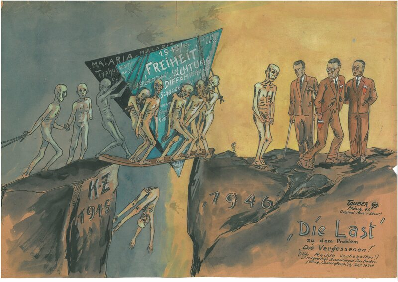 "In 1946, Georg Tauber illustrates the situation of the ""forgotten"" concentration camp victims: the former wearers of the green and black ""patch"" are encountering enormous hurdles in their effort to return to a normal life."