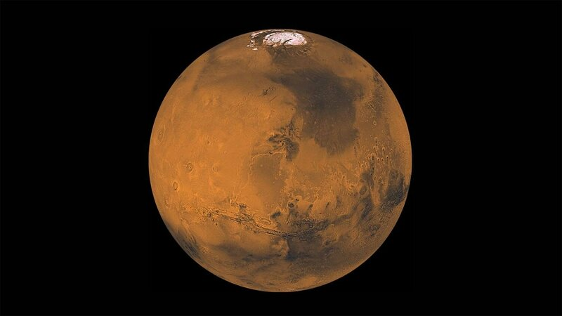 Mars's northern hemisphere is smoother than its southern half.