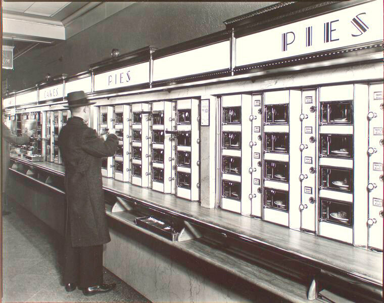 Automat on 977 Eighth Avenue in Manhattan, 1936.