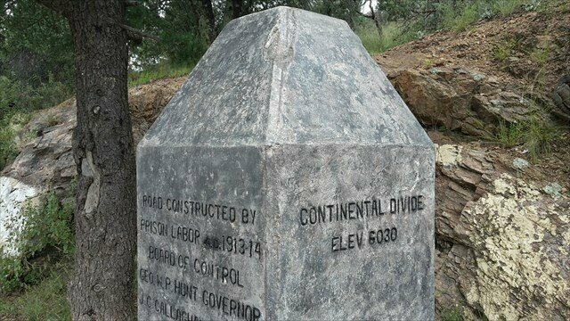 The marker that is not quite on the Continental Divide.