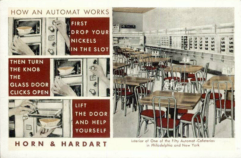 Automat instructional poster
