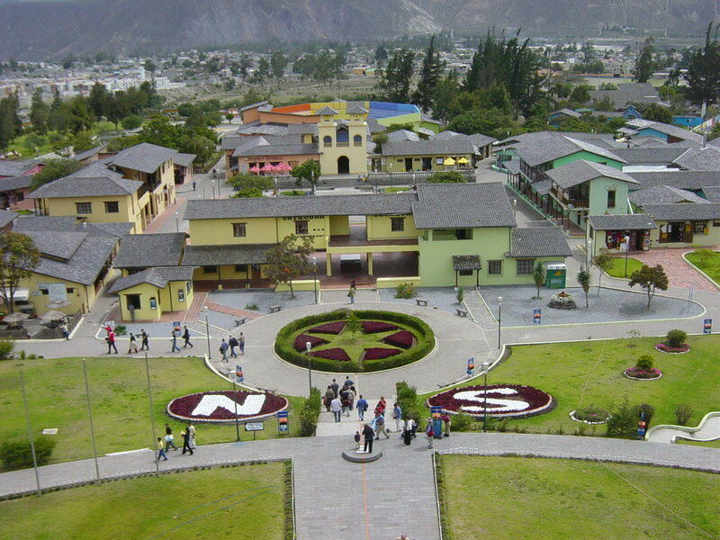 Mitad del Mundo, equator line monument at San Antonio de Pichincha.