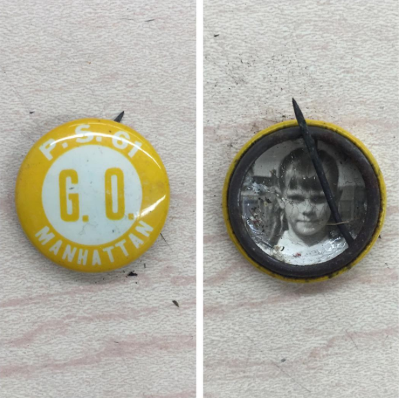 A mystery girl's old PS 61 pin.